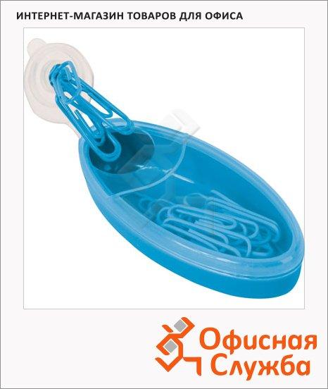 Скрепочница магнитная Brunnen голубая, 20672