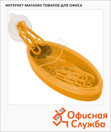 фото: Скрепочница магнитная Brunnen желтая 20672