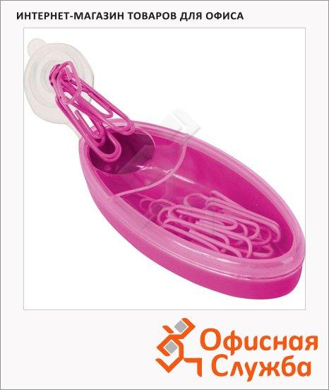 фото: Скрепочница магнитная Brunnen розовая 20672