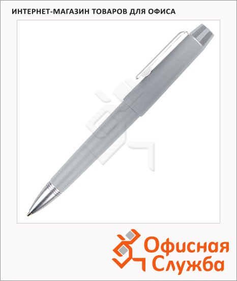 Ручка шариковая Brunnen 29109 серый корпус, 0.7мм, синий