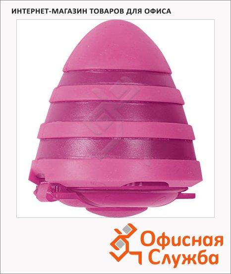 Точилка Brunnen 29873 2 отверстия, с контейнером, волнистая, розовая