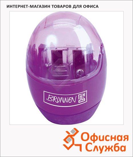 Точилка Brunnen 29879 2 отверстия, с контейнером, круглая, фиолетовая