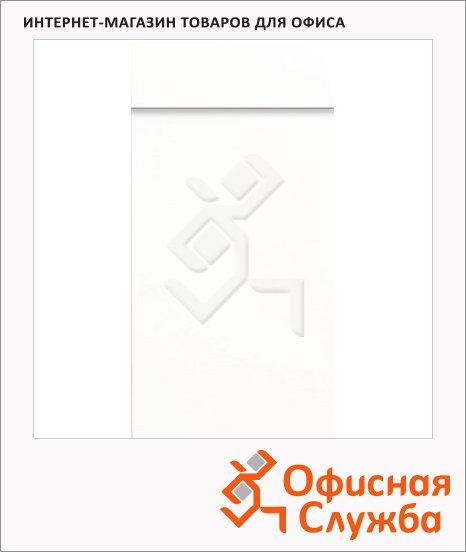 фото: Блокнот белый 6.5х13см, 40 листов, нелинованный, на склейке, с отрывными листами, 55366-00