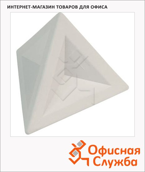 фото: Ластик Brunnen 4.5х4.5х4см треугольный, 29974, белый