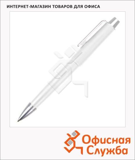 Ручка шариковая Brunnen 29109 белый корпус, 0.7мм, синий