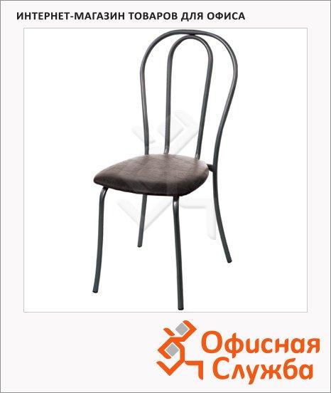 Стул для кафе Дебют Вереск иск. кожа, черная, каркас металл, черный