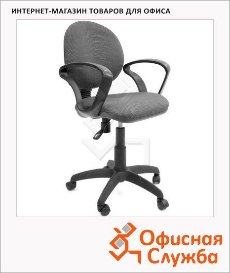Кресло офисное Chairman 682 ткань, JP, крестовина пластик, черная, серая
