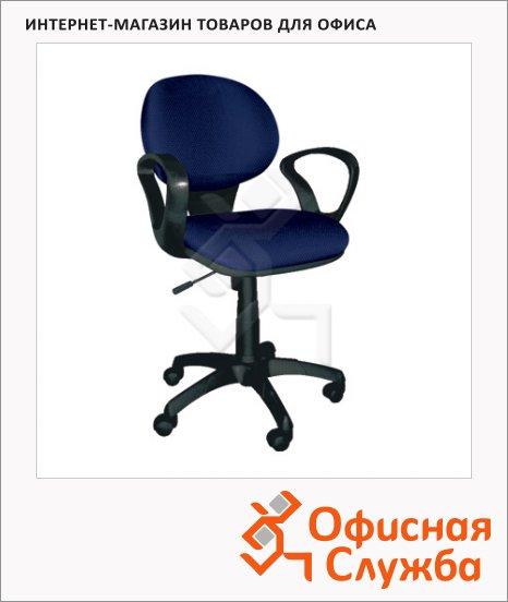 фото: Кресло офисное Chairman 682 ткань JP, крестовина пластик, черная, синяя