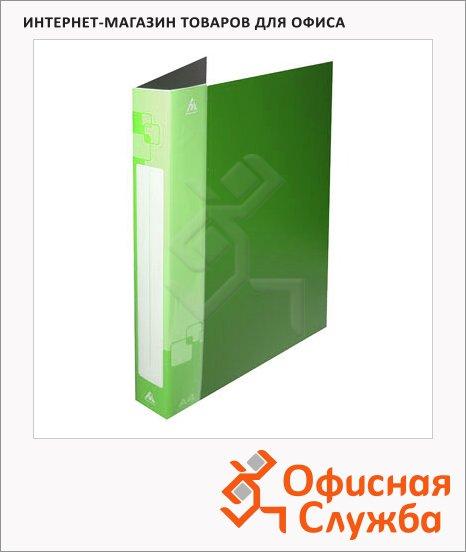 фото: Папка на 2-х кольцах Бюрократ, ширина 40мм, А4, зеленая