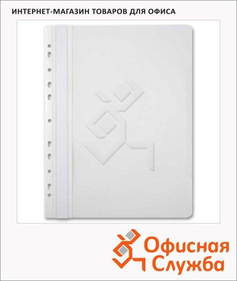 Скоросшиватель с перфорацией Бюрократ белый, А4, PS-P20WH