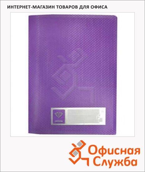 Скоросшиватель пружинный Бюрократ Crystal фиолетовый, А4, CR05PVIO