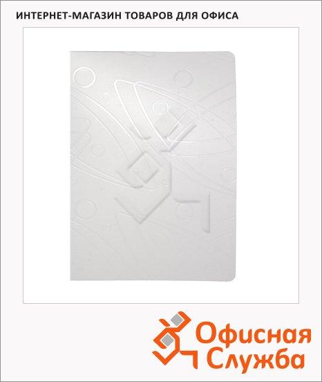 Скоросшиватель пружинный Бюрократ Galaxy белый, А4, GA07PWT