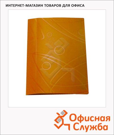 фото: Скоросшиватель пружинный Бюрократ Galaxy оранжевый А4, GA07POR