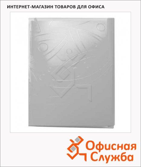 Папка пластиковая с зажимом Бюрократ Galaxy белая, А4, 0.7мм, GA07CWT