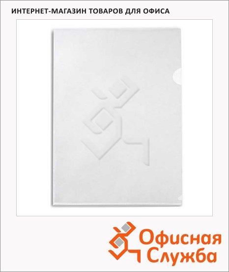 Папка-уголок Бюрократ прозрачная, A4, 100мкм, E100CLEAR