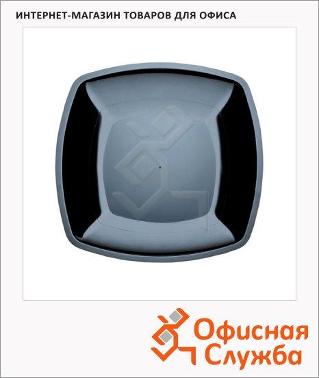 Тарелка одноразовая Buffet черная, 18см, 6шт/уп, квадратная плоская