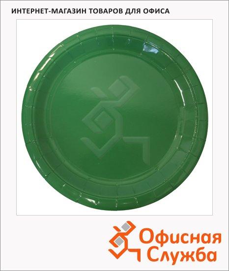 Тарелка одноразовая Horeca зеленая, d=23см, 50шт/уп