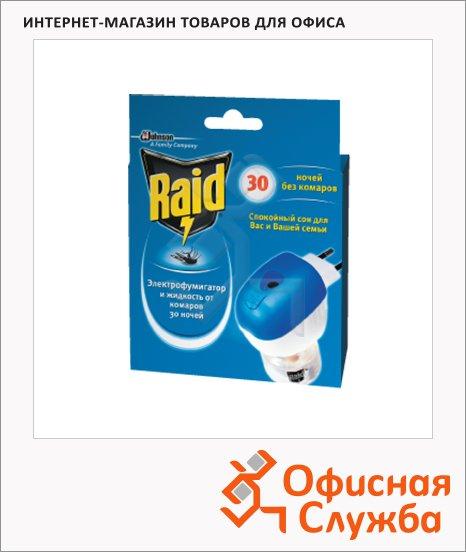 Жидкость для защиты от комаров Raid 30 ночей, электрофумигатор и жидкость