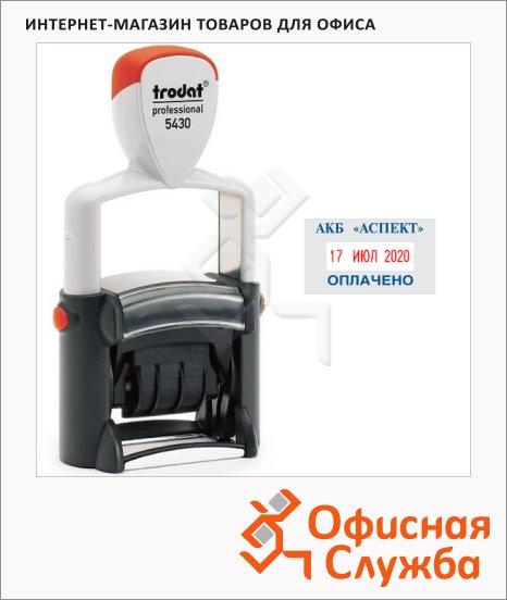фото: Датер со свободным полем прямоугольный Trodat Professional 41x24мм 4мм, русские буквы, 5430
