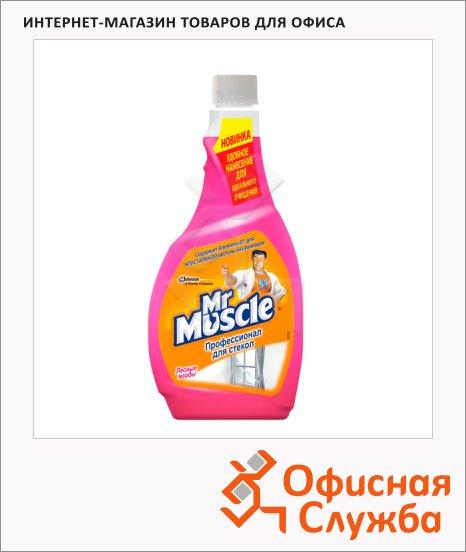 Чистящее средство Мистер Мускул Эконом 0.5л, лесные ягоды, запасной блок, жидкость, розовый