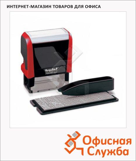 фото: Штамп прямоугольный самонаборный Trodat Printy Typomatic 3 строки 38х14мм, красный