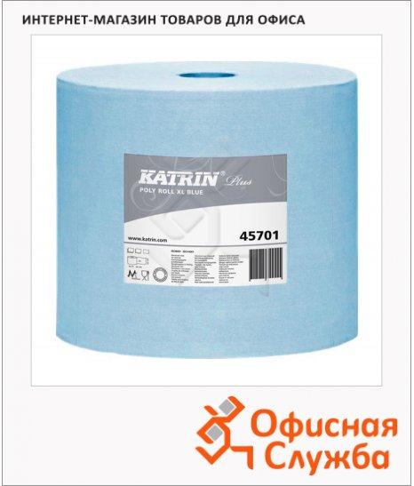 Протирочные салфетки Katrin Plus Poly Roll XL Blue 45701, синие, 32.5см х 36.5  х 200м, 550 листов