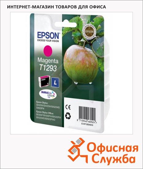 Картридж струйный Epson C13 T1291/92/93/94 4011 C13 T1293 4011, пурпурный