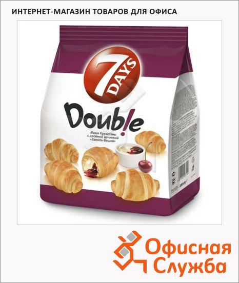 Мини-круассаны 7 Days Double ваниль/ вишня, 200г