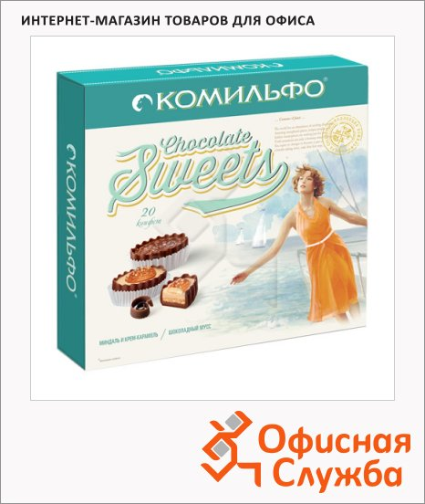 Конфеты Комильфо миндаль и крем-карамель, 232г