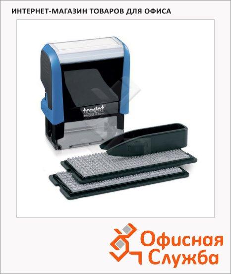 Штамп прямоугольный самонаборный Trodat Printy Typomatic 4 строки, 47х18мм, синий
