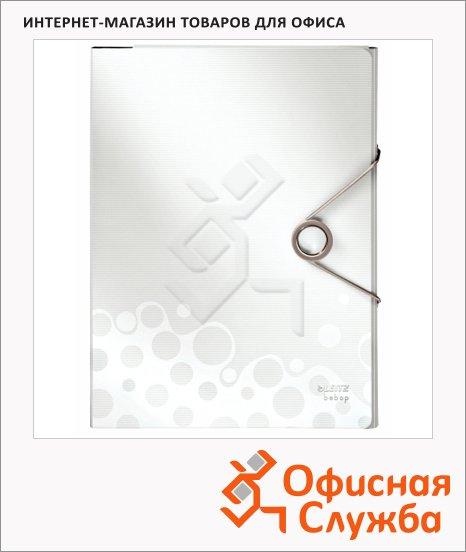 фото: Папка-органайзер Leitz Bebop белая А4, 4 раздела, 45800001