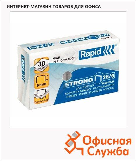 фото: Скобы для степлера Rapid Strong 1M №26/6 1000 шт