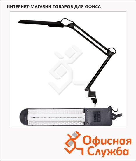 фото: Светильник настольный Дельта1 черный на струбцине, люминесцентный