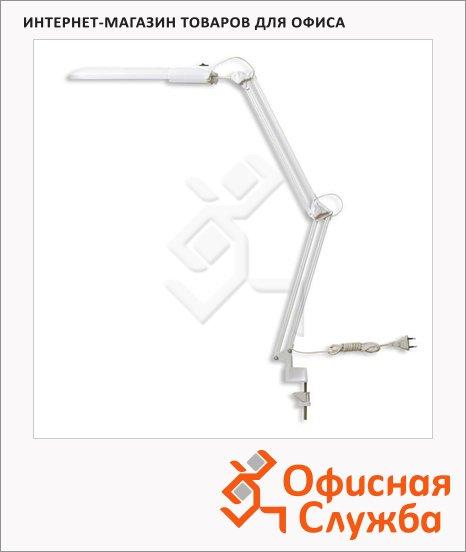 фото: Светильник настольный Трансвит Дельта1ТА белый на струбцине, люминесцентный