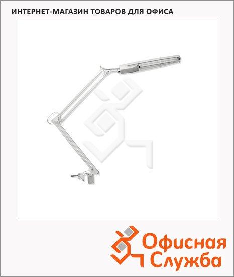 фото: Светильник настольный Трансвит Светлана серый на струбцине, люминесцентный