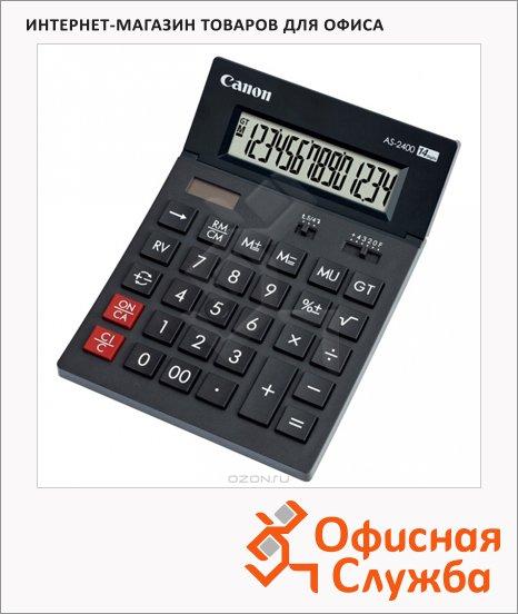 фото: Калькулятор настольный AS 2400 HB черный 14 разрядов
