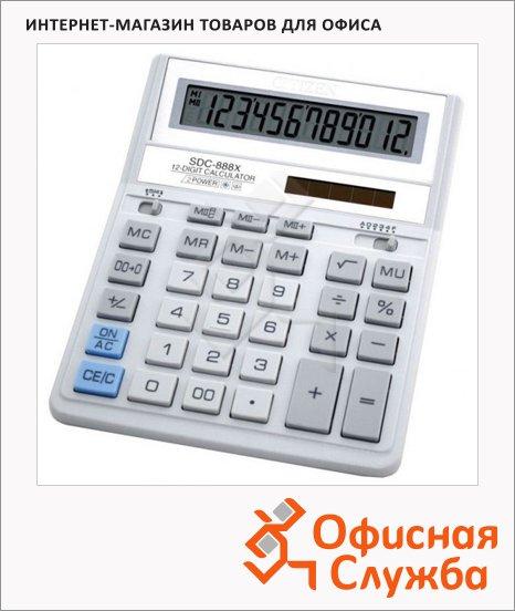 Калькулятор настольный Citizen SDC-888XWH белый, 12 разрядов