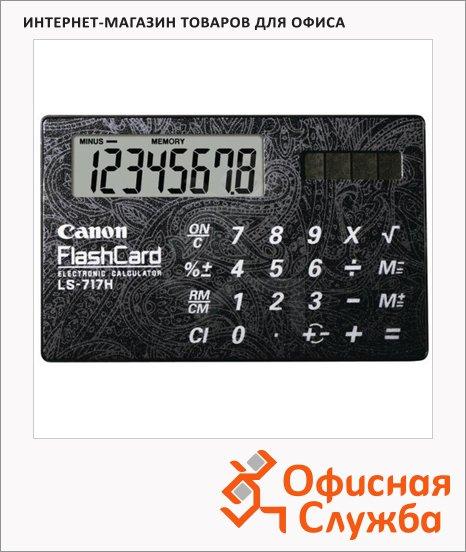 Калькулятор-карточка Canon LS 717H черный, 8 разрядов