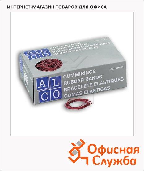 Резинки для денег Alco 65мм, 1кг, красные, 745/811512