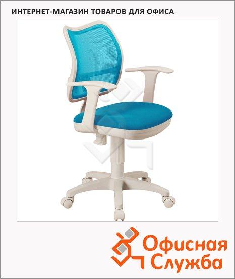 Кресло офисное Бюрократ CH-W797 ткань, крестовина пластик, белая, голубая, светлая, TW, бежевая