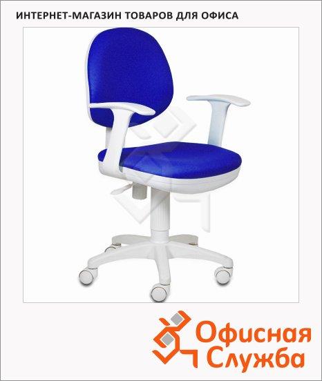 Кресло офисное Бюрократ CH-W356AXSN ткань, крестовина пластик, белая, синяя, темная