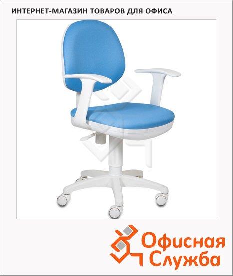 Кресло офисное Бюрократ CH-W356AXSN ткань, крестовина пластик, белая, голубая