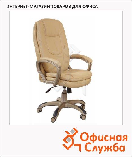 фото: Кресло руководителя Бюрократ CH-868YAXSN иск. кожа крестовина пластик, бежевая