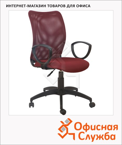 фото: Кресло офисное Бюрократ CH-599 ткань крестовина пластик, бордовая