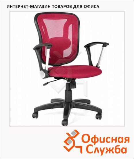 Кресло офисное Chairman 452 ткань, TW, крестовина пластик, бордовая