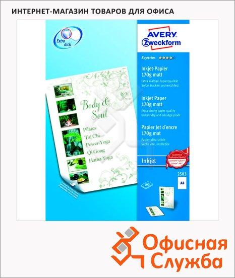 фото: Бумага для принтера Avery Zweckform А4 100 листов, 210x297мм, 170 г/м2, белая матовая, 2583