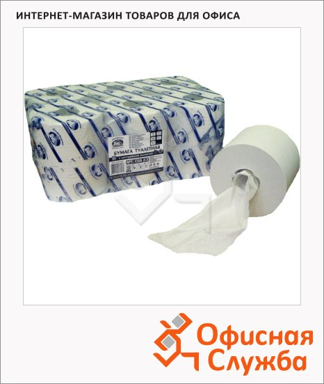 фото: Туалетная бумага в рулоне белая, 200м, 2 слоя
