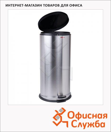 фото: Контейнер для мусора с педалью Лайма Modern 30л матовый металлик, с внутренним ведром, 232265
