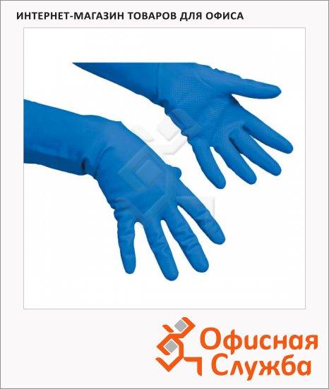 фото: Перчатки резиновые Vileda Pro многоцелевые S голубые, 100752