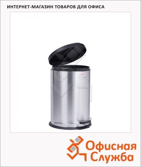 Контейнер для мусора с педалью Лайма Modern 12л, матовый металлик, с внутренним ведром, 232264